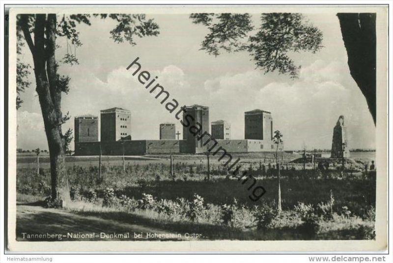 Tannenberg-National-Denkmal bei Hohenstein - Foto-AK