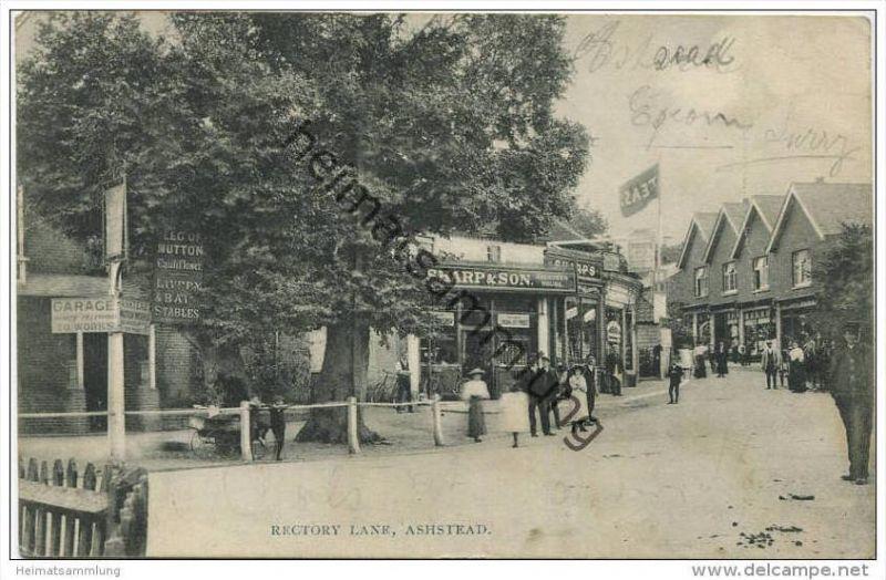 Ashtead - Rectory Lane - Edition C. E. Johnson Stationer Asthead gel. 1908