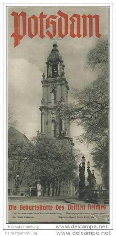 Potsdam - Die Geburtsstätte des Dritten Reiches - Faltblatt mit 16 Abbildungen 1935