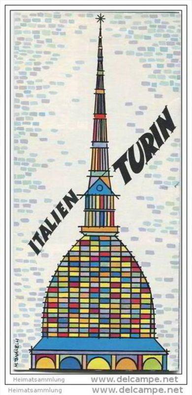 Turin 60er Jahre - Faltblatt mit 22 Abbildungen