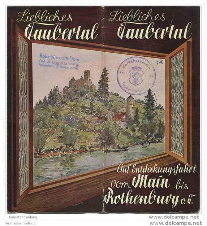 Rothenburg - Liebliches Taubertal 50er Jahre - Faltblatt mit 20 Abbildungen