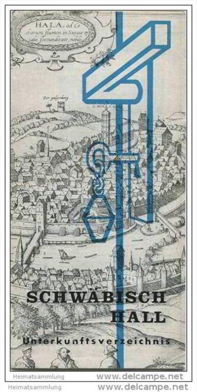 Schwäbisch Hall - 20 Seiten mit 23 Abbildungen 1966