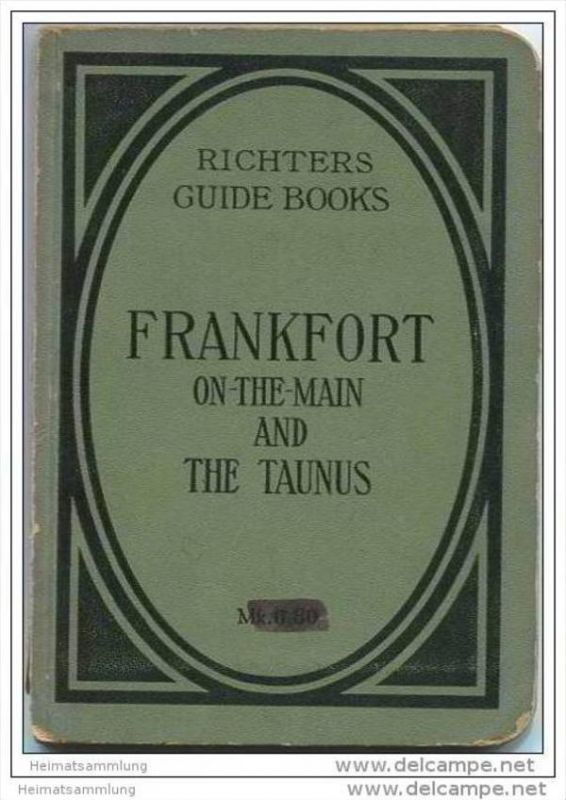 Frankfort on-the-Main and the Taunus - Richters Guide Books