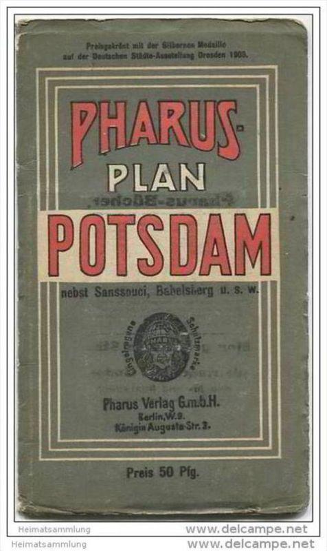 Pharus-Plan ca. 1910 - Potsdam nebst Sanssouci, Babelsberg u.s.w. im Maßstab 1:16840