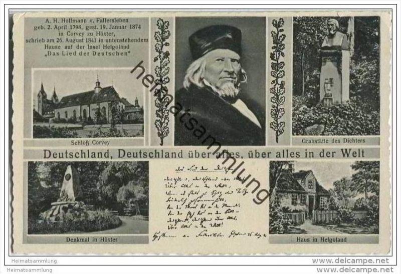 Hoffmann von Fallersleben - Deutschland über alles