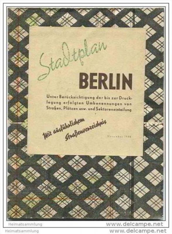 Stadtplan Berlin 1946 mit ausführlichen Strassenverzeichnis