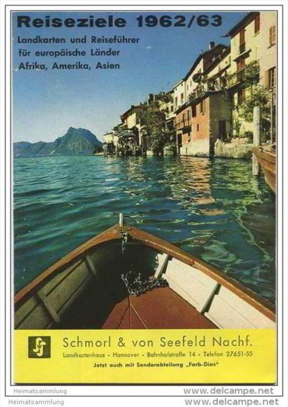 Werbeheft Schmorl & von Seefeld Nachf. Hannover 1962 - 36 Seiten Preise für Landkarten und Reiseführer