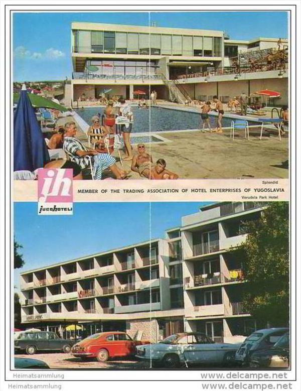 Kroatien - Pula 60er Jahre - Faltblatt mit 16 Abbildungen 1