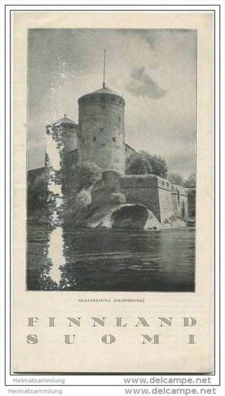 Finnland - Suomi 1928 - Faltblatt mit 6 Abbildungen