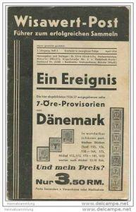 Wisawert-Post April 1934 - 1. Jahrgang Heft 3 - Herausgeber. Dr. Otto Hindrichs Münster