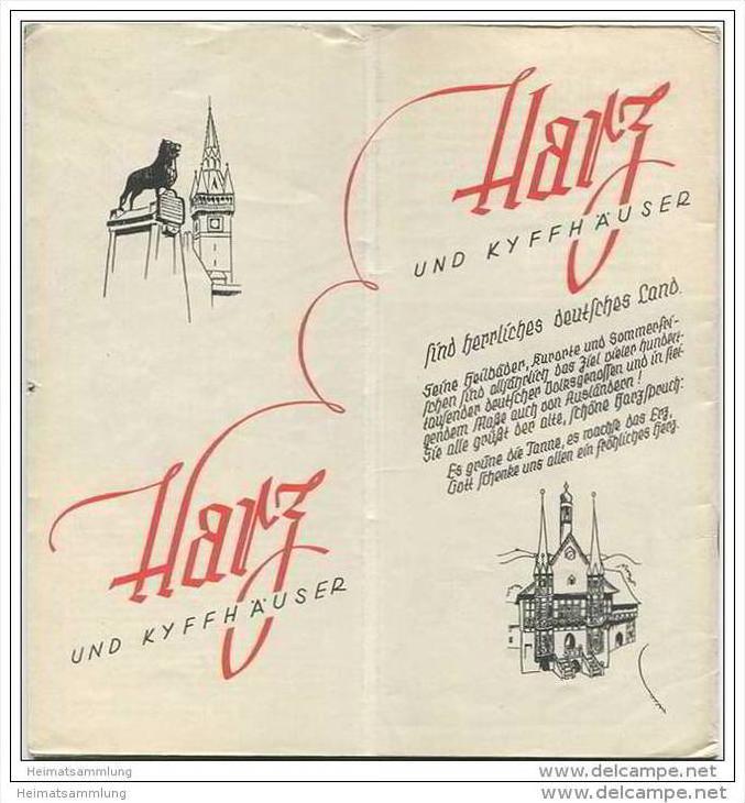 Harz und Kyffhäuser 1935 - 32 Seiten mit 53 Abbildungen