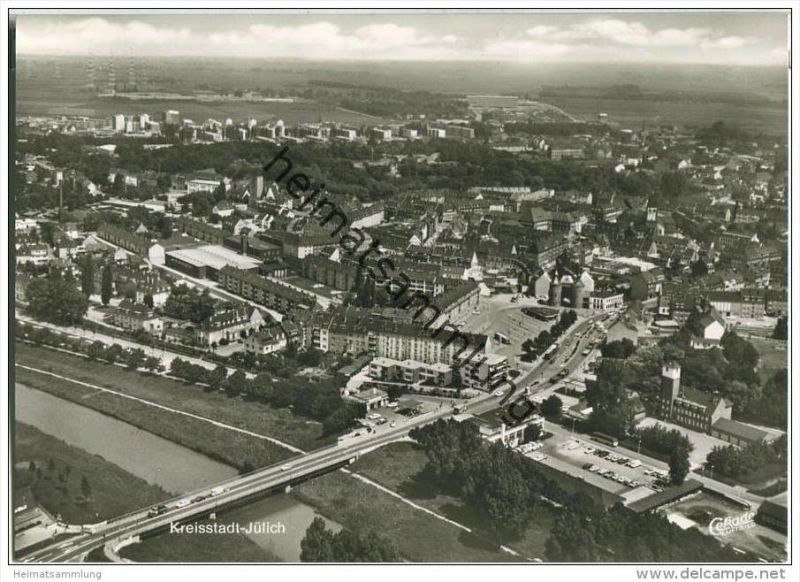 Jülich - Luftbild - Foto-AK