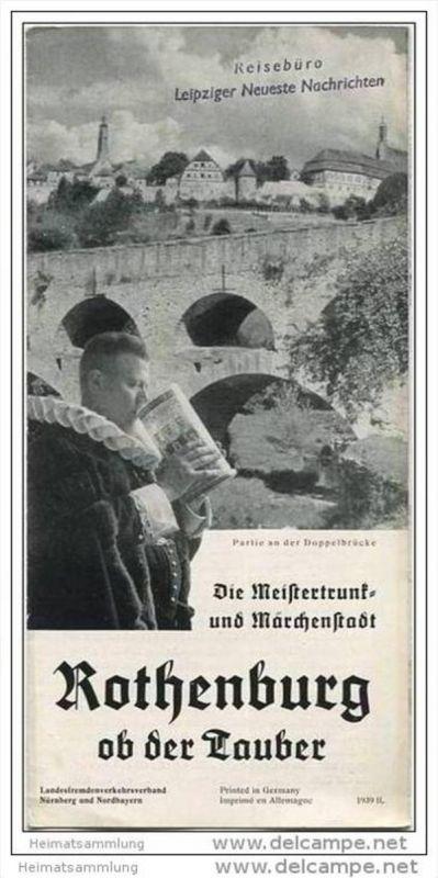 Rothenburg 1939 - Faltblatt mit 8 Abbildungen