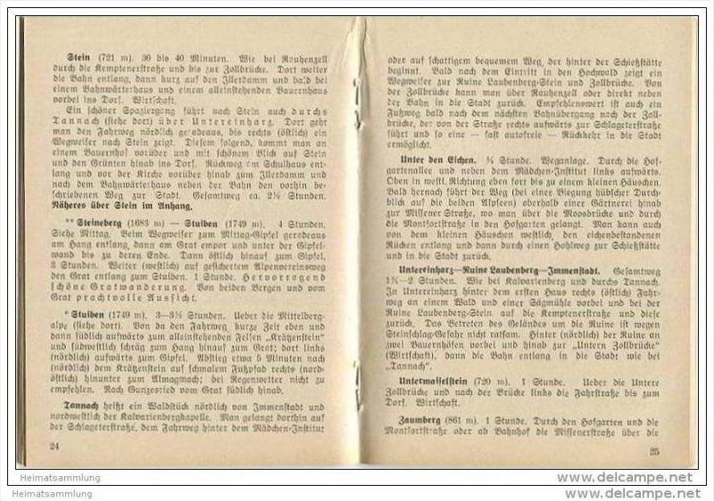 Immenstadt 30er Jahre - Führer durch Immenstadt und Umgebung mit Anhang für Bühl und Stein 1