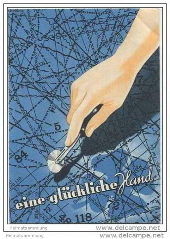 Eine glückliche Hand - Faltblatt - Kochs Adlernähmaschinen Werke AG Bielefeld - Adler Klasse 89