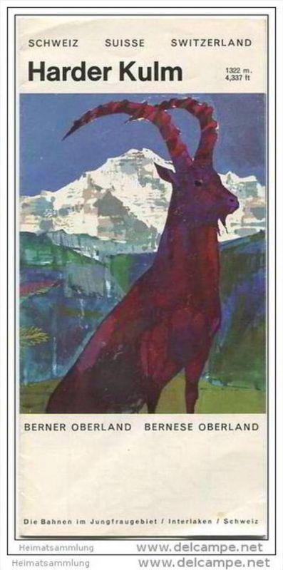 Harder Kulm 60er Jahre - Faltblatt mit 7 Abbildungen