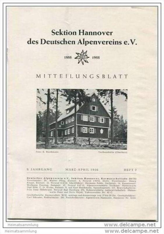 Deutscher Alpenverein - Sektion Hannover - Mitteilungsblatt März-April 1956