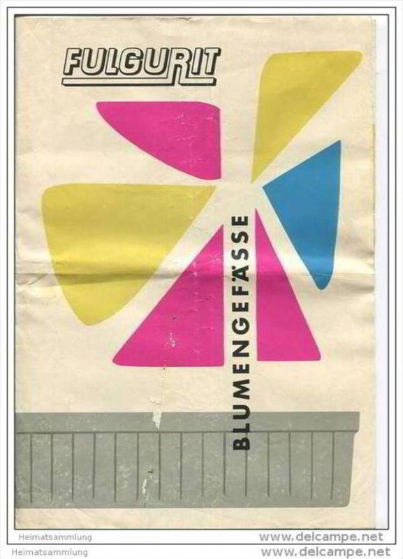 Fulgurit - Blumengefässe - Faltblatt mit vielen Abbildungen sowie Preisliste 1958 - Fulgurit-Vertriebsgesellschaft Luthe