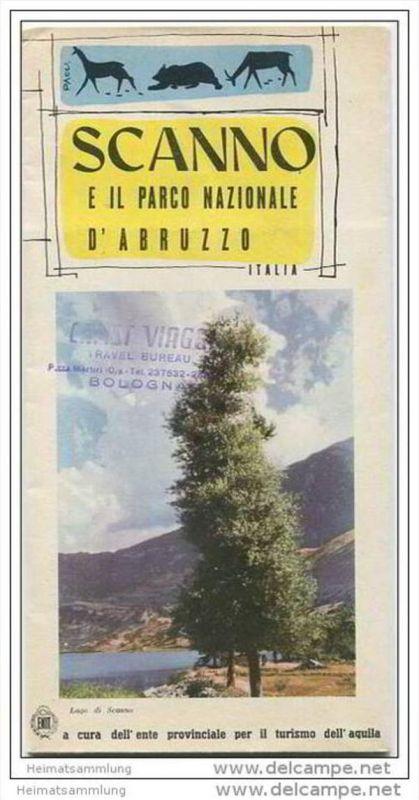 Scanno - Nationalpark 50er Jahre - Faltblatt in italienischer Sprache mit 10 Abbildungen