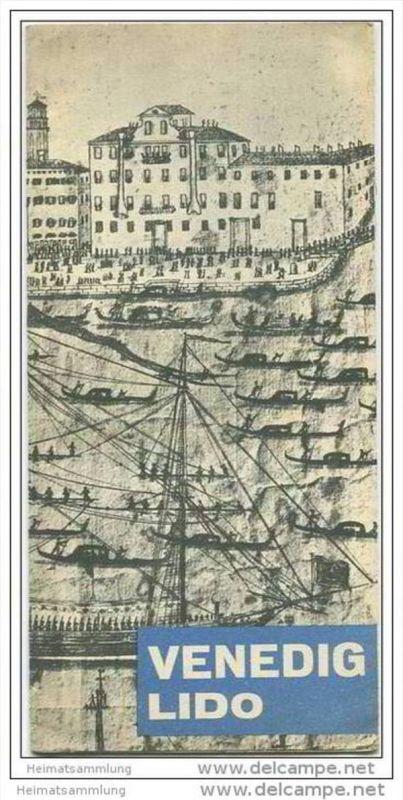 Venedig 50er Jahre - Faltblatt mit 19 Abbildungen