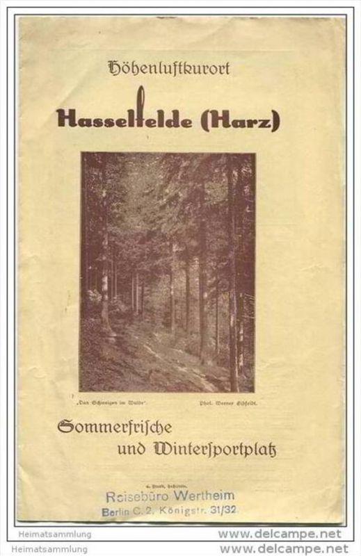 Hasselfelde 20er Jahre - Faltblatt mit 5 Abbildungen
