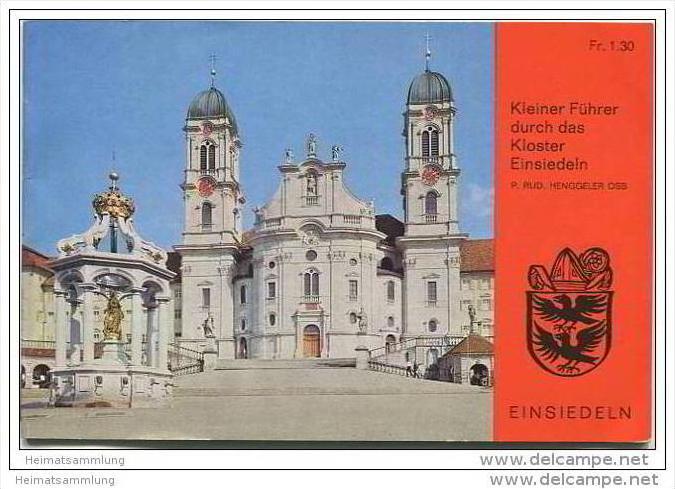 Einsiedeln - Kleiner Führer durch das Kloster - 22 Seiten mit 13 Abbildungen