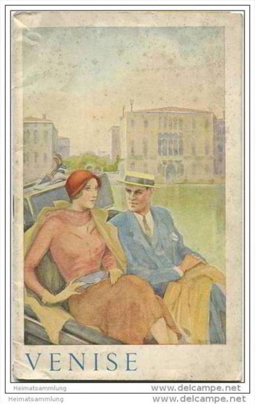 Venedig Venise 1935 - 36 Seiten mit 33 Abbildungen - in französischer Sprache