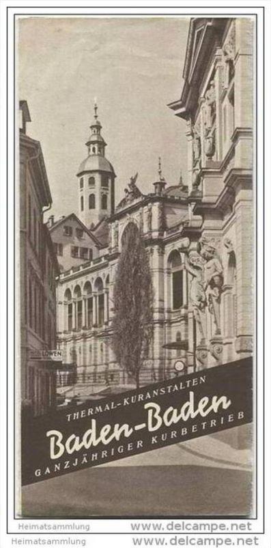 Baden-Baden 40er Jahre - zwei Faltblätter mit 27 Abbildungen