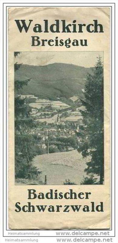 Waldkirch 20er Jahre - Breisgau - Faltblatt mit 8 Abbildungen