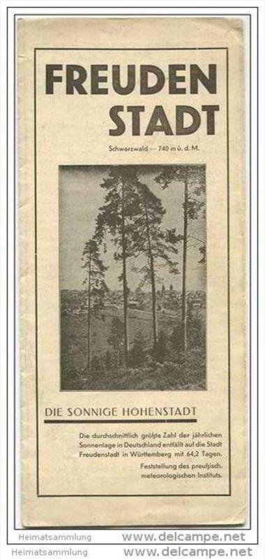 Freudenstadt 1930 - Faltblatt - Hotelverzeichnis