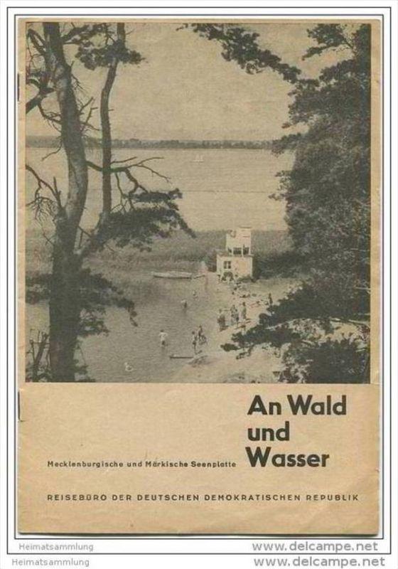 Märkische und Mecklenburgische Seenplatte 50er Jahre - Reisebüro der DDR - 12 Seiten mit 11 Abbildungen
