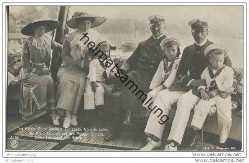 Deutsches Reich - Der Kaiser - Prinz Adalbert - Prinzessin Viktoria Luise und die Kronprinzessin