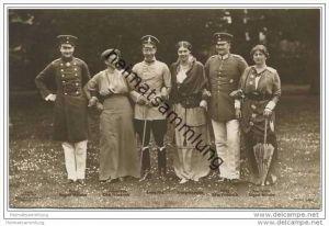 Deutsches Reich - Kronprinz - Prinz Eitel Friedrich - Prinz August Wilhelm mit Gattinnen