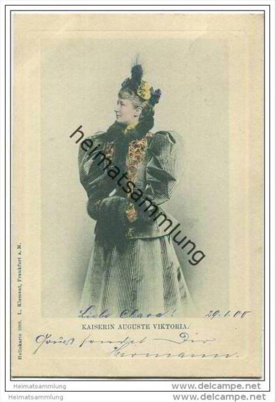Deutsches Reich - Kaiserin Auguste Viktoria - Heliokarte