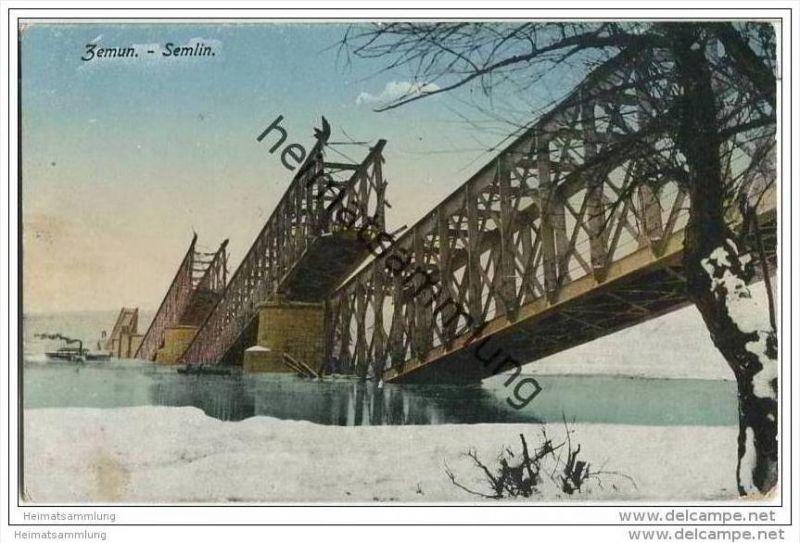 Zemun - Zimovnik - Semlin - zerstörte Brücke