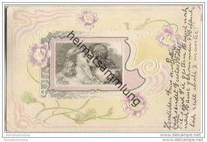 Liebespaar - Jugendstil - Prägedruck
