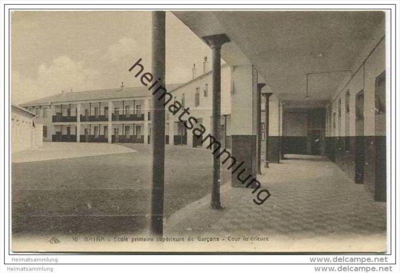 Batna - Ecole primaire superieure de Garcons - Cour interieure