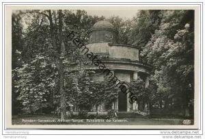 Potsdam - Sanssouci - Antiken Tempel- Ruhestätte der Kaiserin - Foto-AK ca. 1930