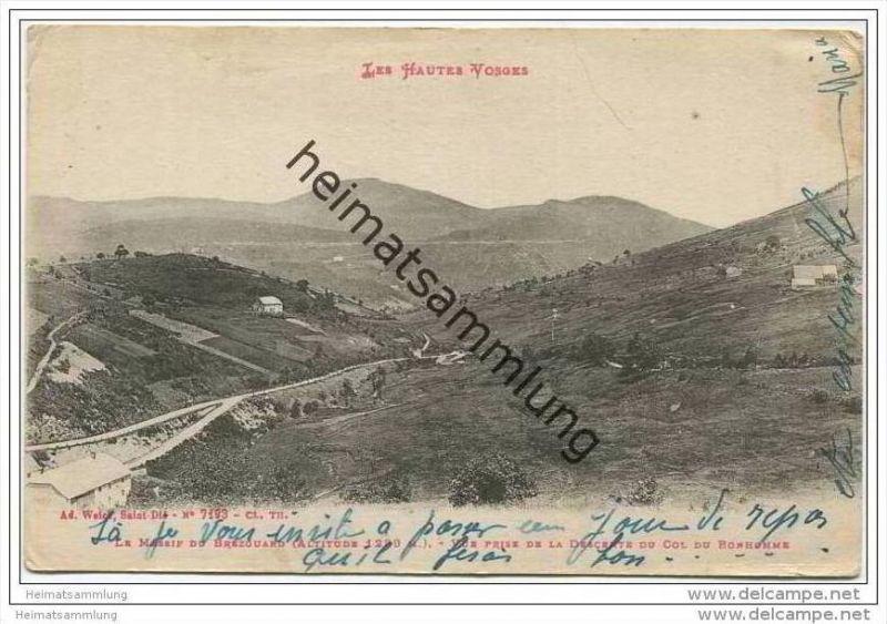 Les Hautes Vosges - Le Massif du Brezouard - vue prise de la Descente du Col du Bonhomme