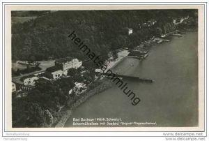 Bad Buckow - Schermützelsee mit Seebad - Junkers Luftbild - Foto-AK 30er Jahre