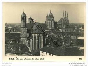 Erfurt - Über den Dächern der alten Stadt - Foto-AK Grossformat 30er Jahre