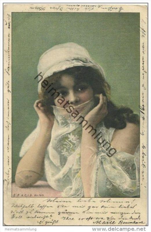 Junge Frau mit Schleier gel. 1904