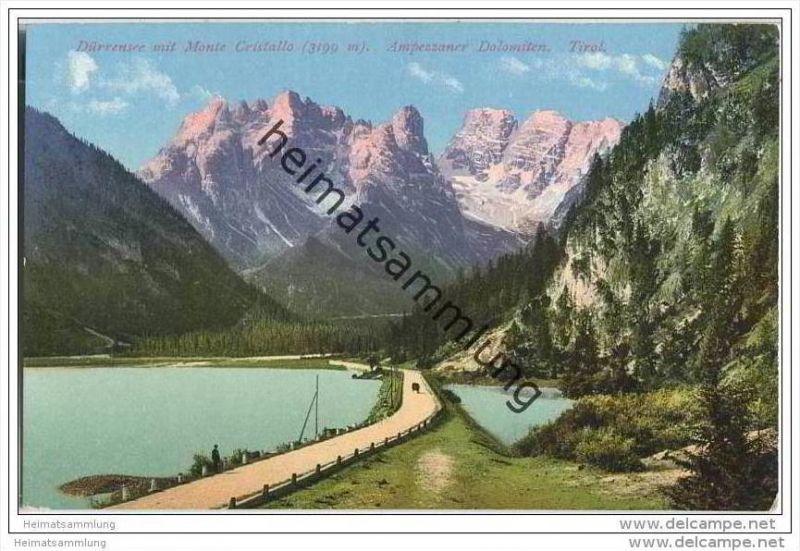 Dürrensee - Monte Cristallo - Ampezzaner Dolomiten - AK ca. 1910