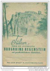 Blankenburg - Führer durch die Burgruine Regenstein - 16 Seiten
