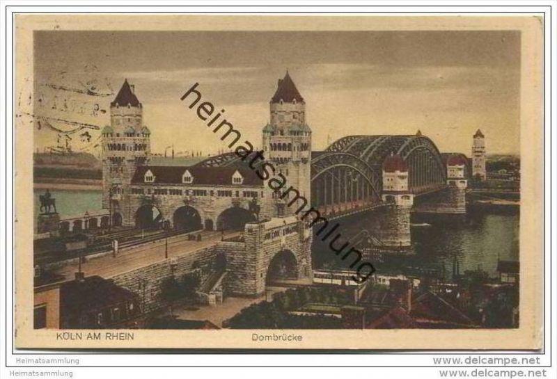 Köln - Hohenzollernbrücke - Dombrücke