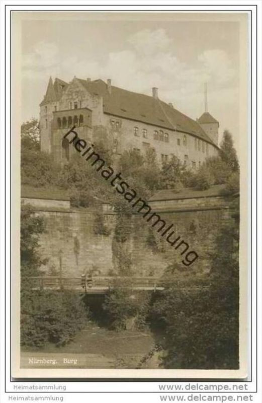 Nürnberg - Burg - Foto-AK 30er Jahre