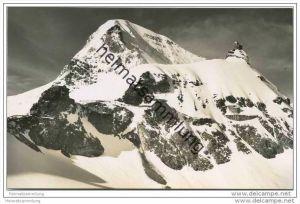 Jungfraujoch - Berghaus - Sphinx und Mönch - Foto-AK 50er Jahre