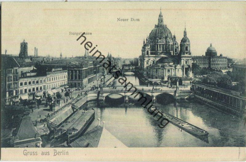 Gruss aus Berlin - Burgstrasse - Neuer Dom
