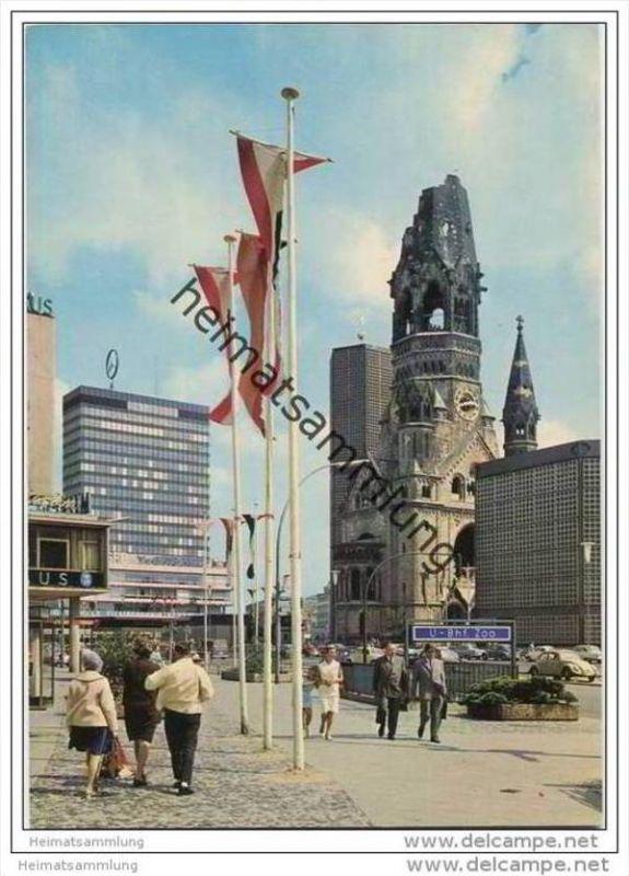 Berlin - Kaiser Wilhelm Gedächtniskirche und Europa Center - AK Grossformat