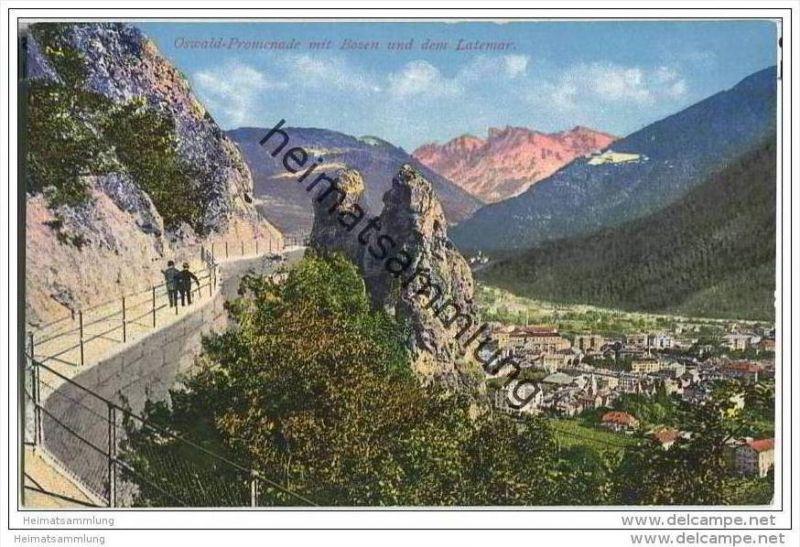Ak Bozen Ortspartie Mit Der Neuen Wassermauer-promenade 1908 Zu Verkaufen Europa